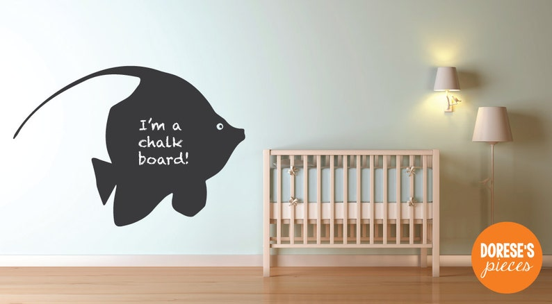 Custom Removable Chalkboard decal Angel Fish!