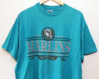Vintage 1990's Florida Marlins T-Shirt SZ XL
