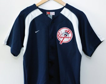Vintage 90's New York Yankees Nike Jersey SZ Youth L / Women S