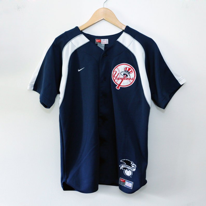 Vintage 90's New York Yankees Nike Jersey SZ Youth L / image 0