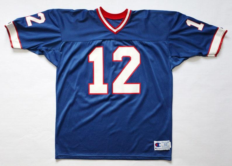 Vintage 90's Buffalo Bills 12 Jim Kelly Champion Jersey image 0