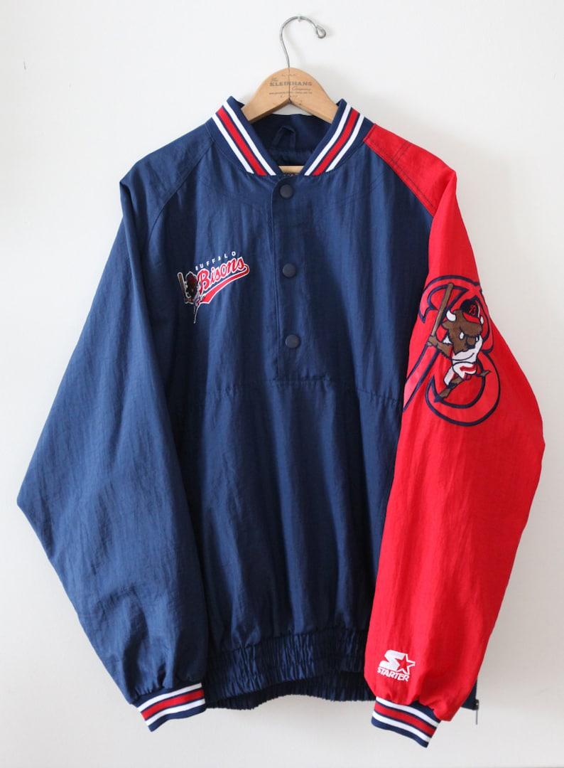 Vintage 90's Buffalo Bisons Pullover Starter Jacket SZ XL image 0