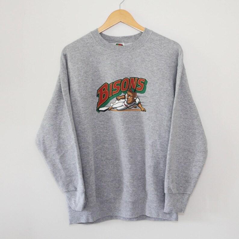 Vintage Buffalo Bisons Crewneck Sweatshirt SZ XL image 0