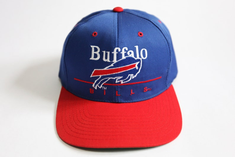 Vintage 90's Buffalo Bills NFL Team Snapback Hat image 0