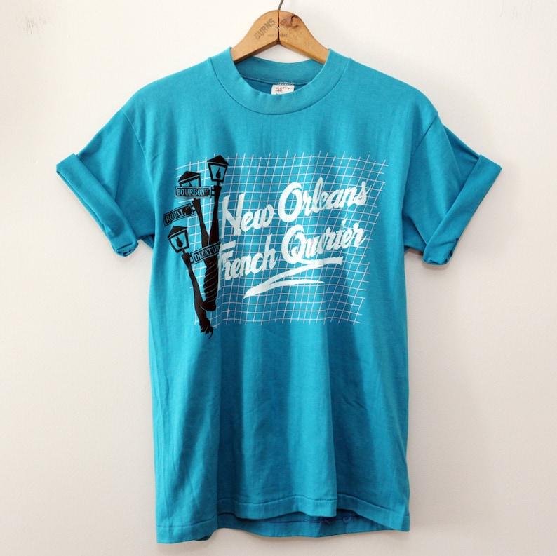 Vintage 80's New Orleans French Quarter Tourist T-Shirt SZ image 0