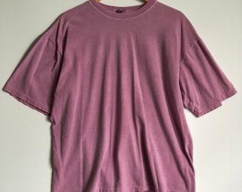 Vintage 90's Gap Single Stitch T-Shirt Faded Purple Blank SZ L