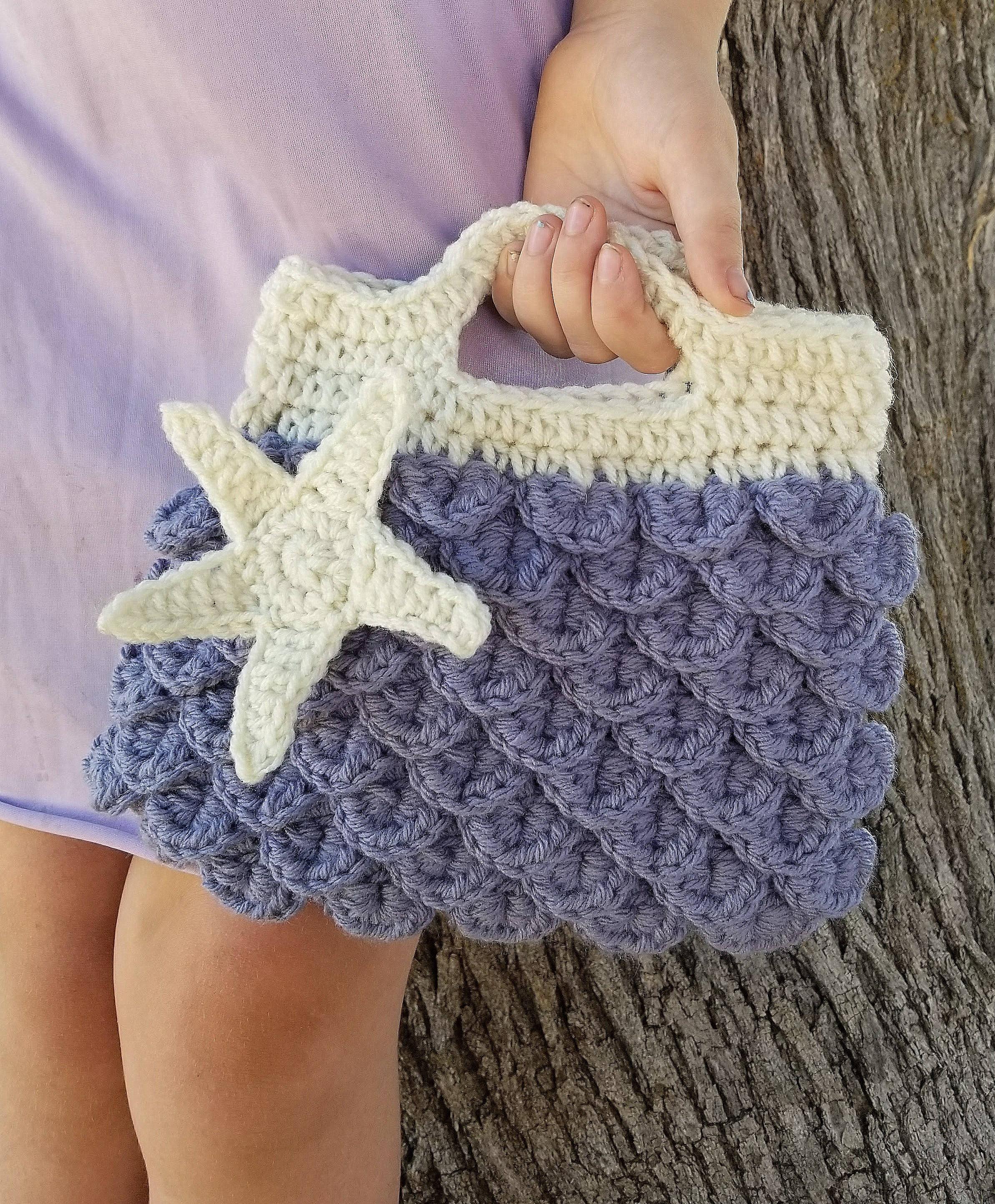 Starfish Handbag Crochet Bags And Purses Mermaid Purse Etsy