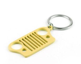 Cintura di ritaglio in acciaio inox Grill portachiavi di Keychain per Jeep