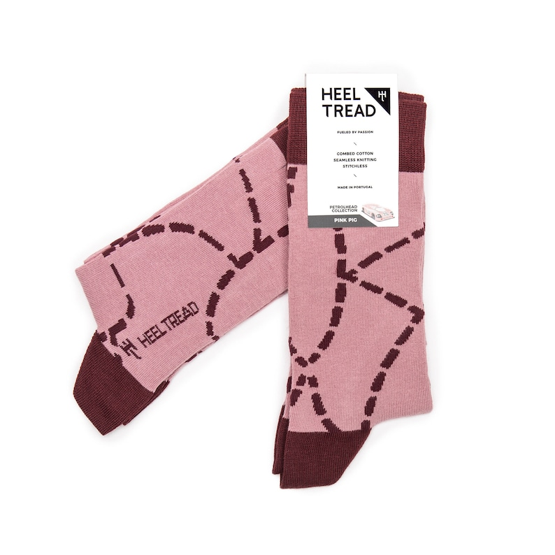 Heel Tread Pink Pig Socks