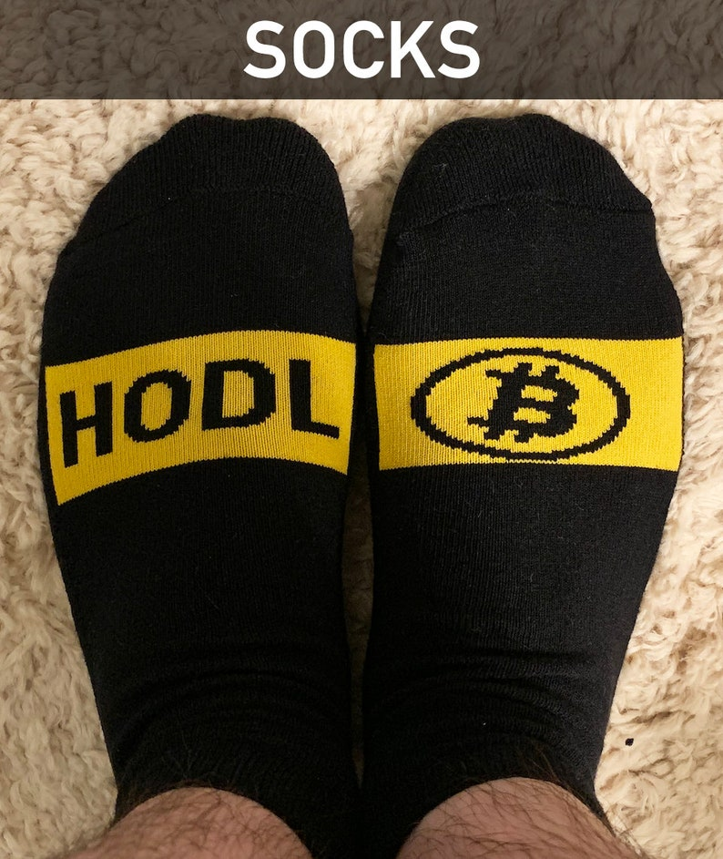 Crypto Cryptocurrency Socks Bitcoin HODL Socks