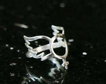 Valentines gift, Silver Angel wing ring, guardian angel ring, venus symbol ring, sterling silver, ''You are an Angel ring'', angel jewelry.