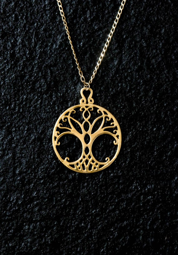 Jewelry Trends Sterling Silver Celtic Winter Tree of Life Pendant