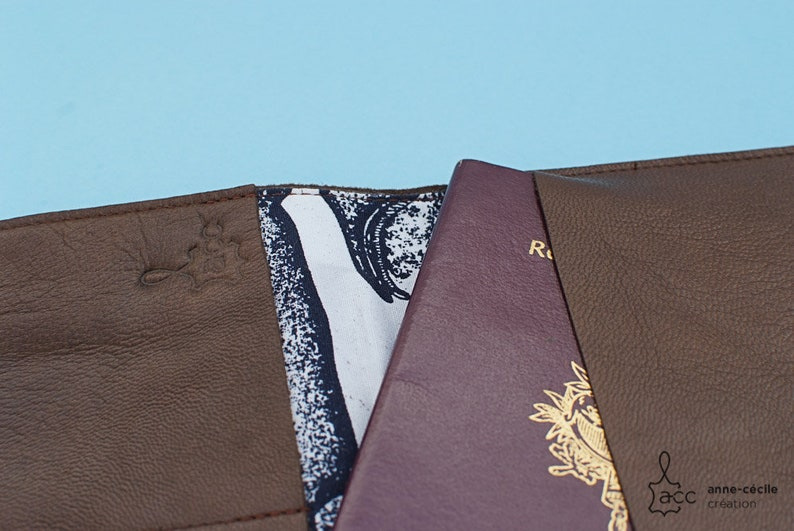 brown leather wallet handmade