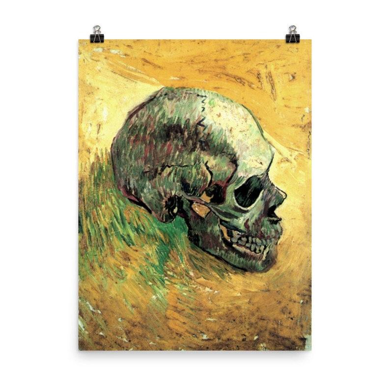 Green Painted Skull Poster