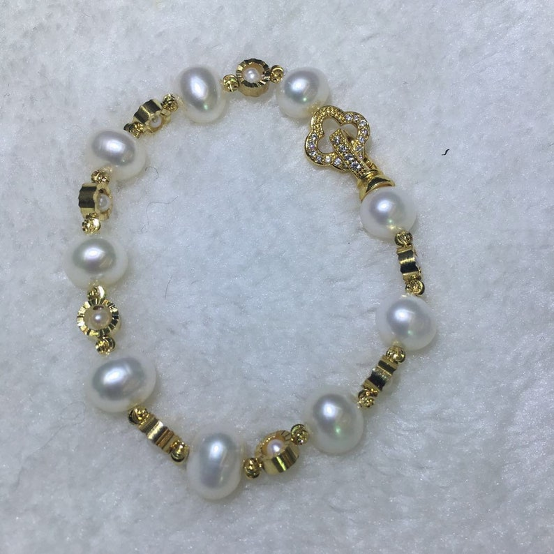"""Natural 7-8mm Black Freshwater Baroque Pearl 18K Gold Plated Necklace 18/"""" AAA"""