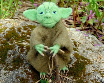 Needle felted Yoda Yoda toy Star Wars Felted Star Wors Toys