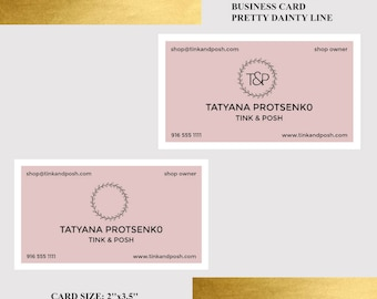 Pink business card etsy quick view cute blush pink business card colourmoves