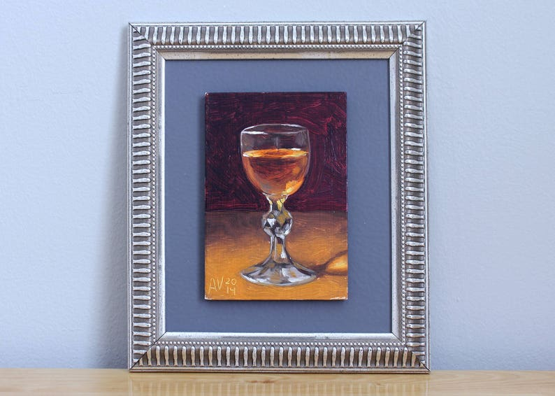 Amaretto Cordial Painting original framed oil painting still image 0