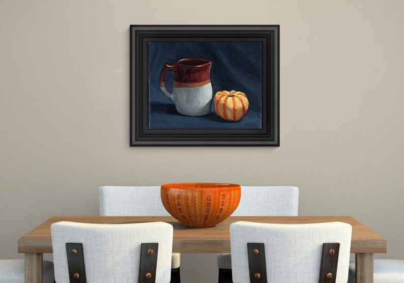 Jug and Gourd  11x14 oil on canvas original painting by image 0