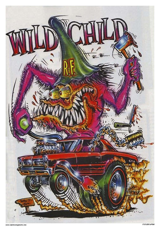 Rat Fink Wild Child Pontiac Gto Poster Etsy 1960 Drawings 50