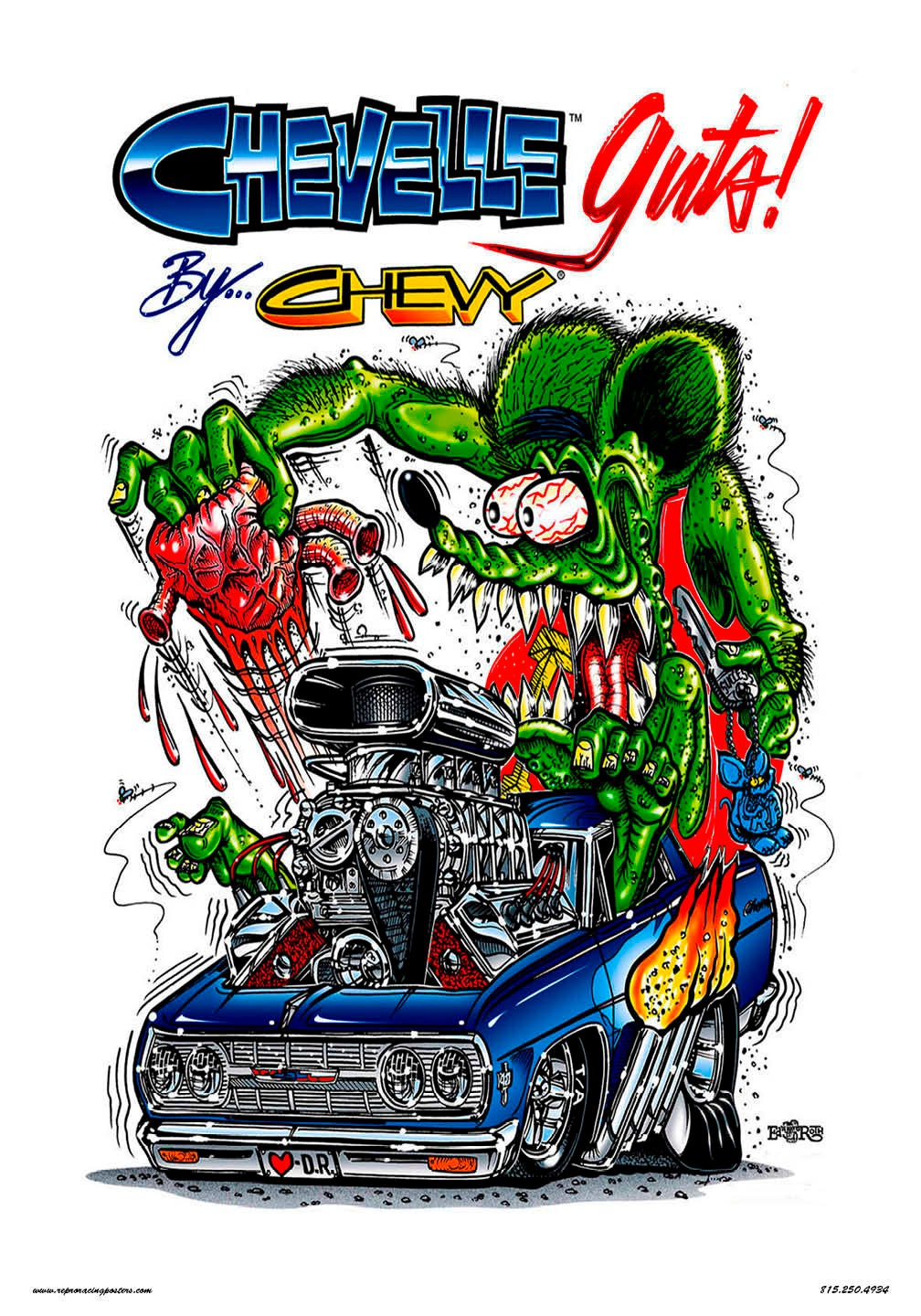 Vintage Reproduction Racing Poster Rat Fink Chevelle -2417