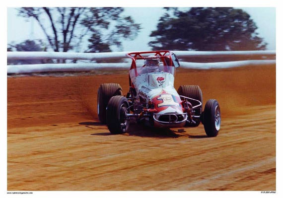 Vintage Reproduction Racing Poster Gary Bettenhausen USAC Sprint Car