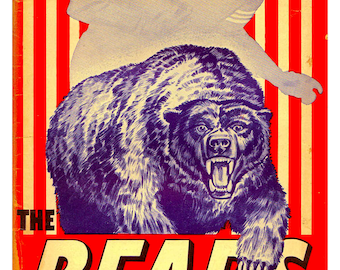 Vintage Reproduction 1953 Chicago Bears NFL football poster