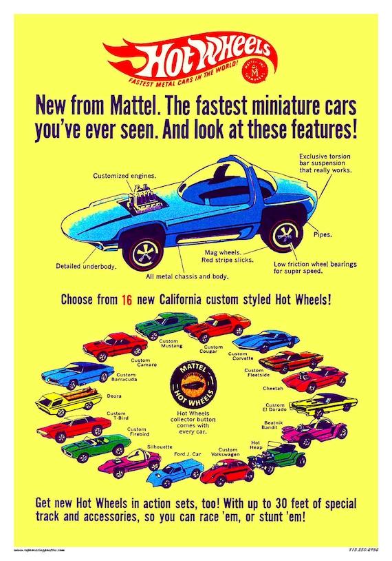 Retro Car Oil Ad Car Lover Garage Decor RETRO CAR POSTER Quality Reproduction Hot Wheels Retro Car Poster