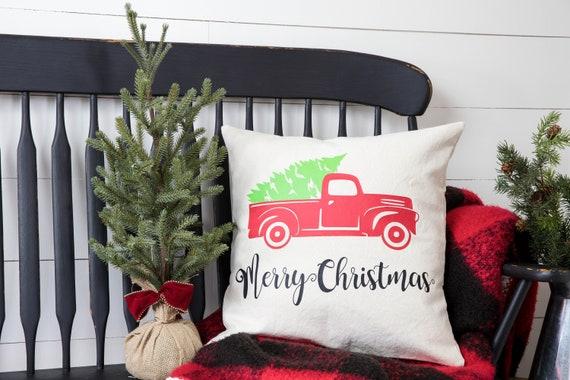 Christmas Pillow Cover - Christmas Decor - Christmas Gift - Farmhouse Christmas Decor - Gift Idea - Cotton Pillow Cover