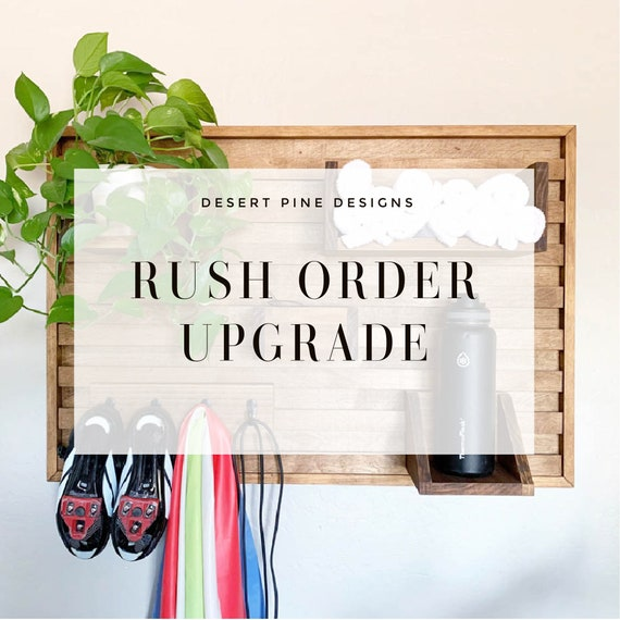 RUSH ORDER UPGRADE - Spin Bike Wall Organizer