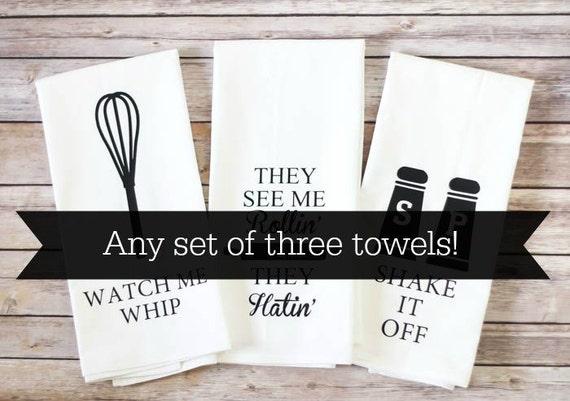 Flour Sack Tea Towels - Choose Any Set of 3