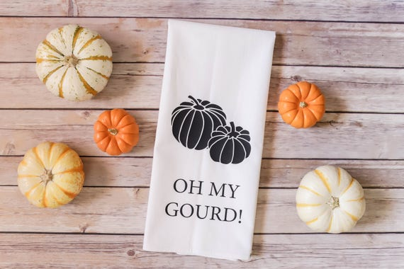 Oh My Gourd! - Fall Tea Towel