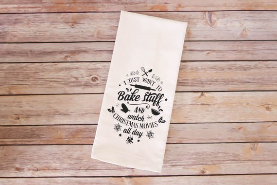 Christmas Tea Towel - Flour Sack Towel