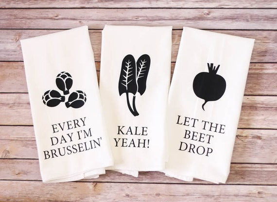 Flour Sack Towel - Brusselin, Kale Yeah, Beet Drop