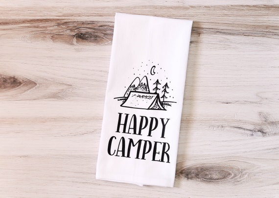 Camp Collection - Happy Camper Floursack Dish Towel - LIMITED EDITION