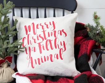 Christmas Pillow Cover - Christmas Decor - Christmas Gift - White Elephant Gift - Gift Idea - Cotton Pillow Cover