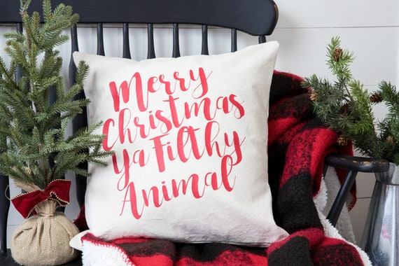 Christmas Pillow Cover - Christmas Decor - Christmas Gift - White Elephant Gift - Gift Idea - Cotton Pillow Cover