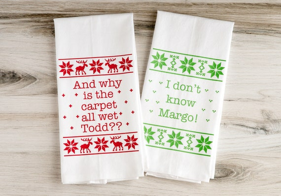 Christmas Towels - Why Is The Carpet All Wet - Christmas Vacation Towels