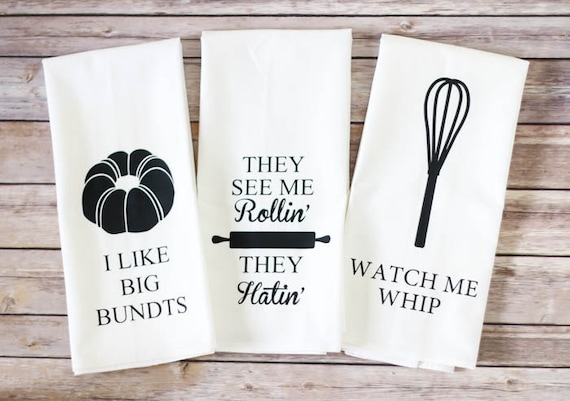 Flour Sack Towel - ORIGINAL! - Funny Tea Towel - I Like Big Bundts