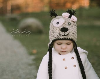 Little Puppy hat | Crocheted Hat | Winter Hat | Toddler Hat | Knit Hat | Baby boy hat