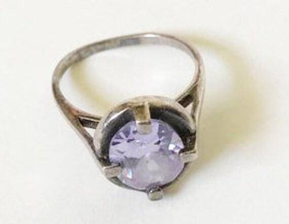Lavender Gemstone Silver Ring