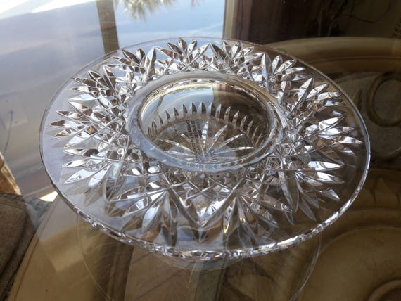 Waterford Crystal Bethany Pillar Candle Holder Waterford Etsy