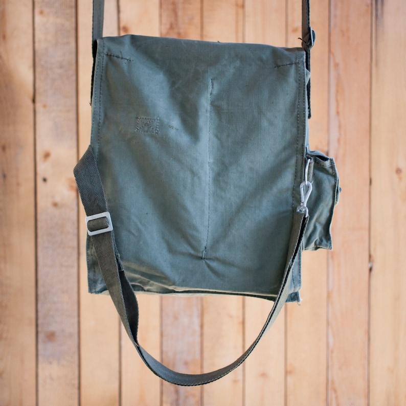 Canvas messenger bag crossbody bag canvas bag canvas backpack military bag soviet army bag military backpack canvas crossbody bag vintage