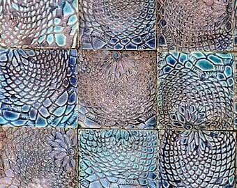 36 x10cm x 10cm Belgravia Square Tiles (Blue) *Seconds*
