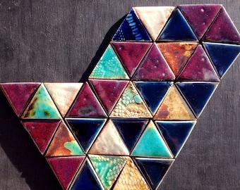 Beautiful triangular decorative mosaic tiles