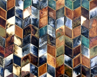 0.2 sqm Dark Shades Diamond shaped Tiles *Seconds*
