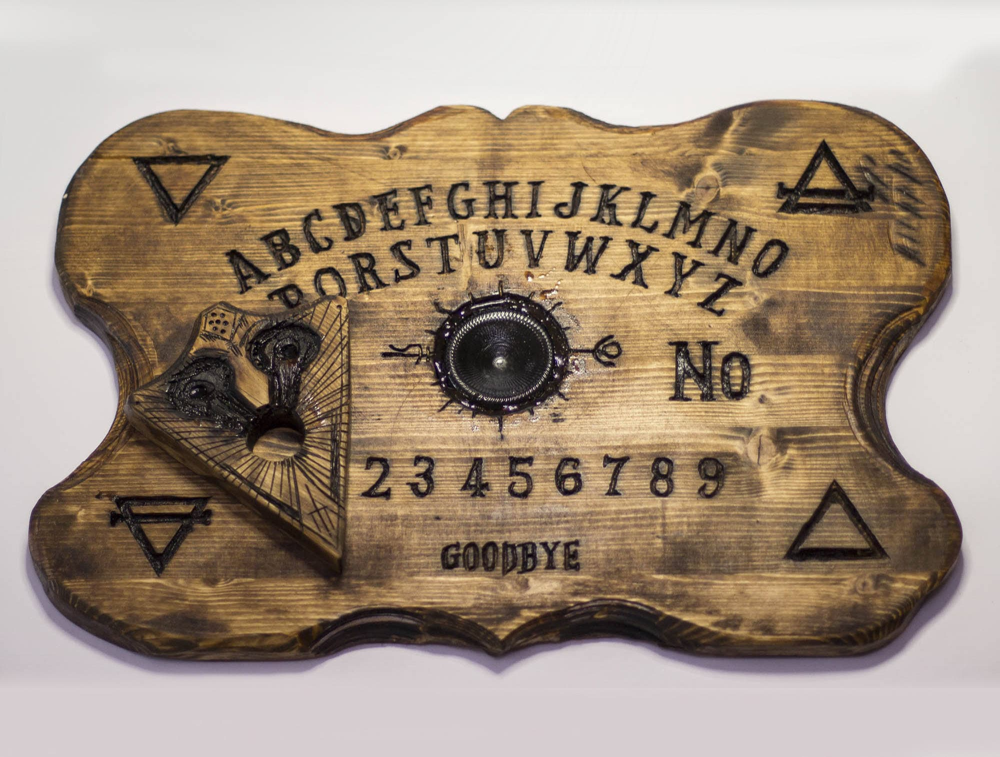 Real Ouija Board Wood Hand Sculpted Etsy