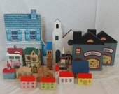 Lot Of Vintage Wood And Metal Miniature Houses Christmas Village Putz House Country 1940 39 s Toys Ornaments Decor Dollhouse Cat 39 s Meow Creche