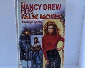 Vintage 1988 Large Print Hardcover The Nancy Drew Files False Moves #9 Carolyn Keene
