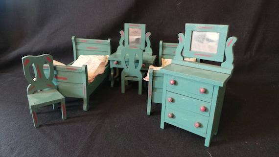 Reduced Vintage Dollhouse Miniature 1920 S Schoenhut Fao Etsy